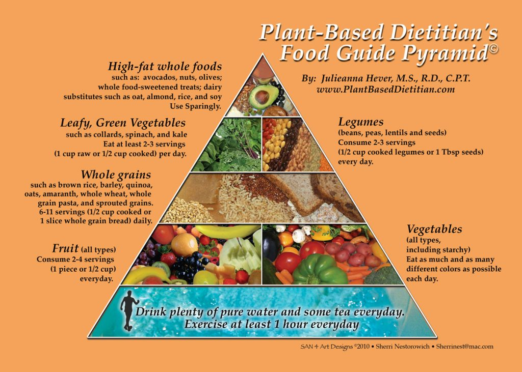 Plant Based Food Guide Pyramid And Plate As A To Wholesome Diet