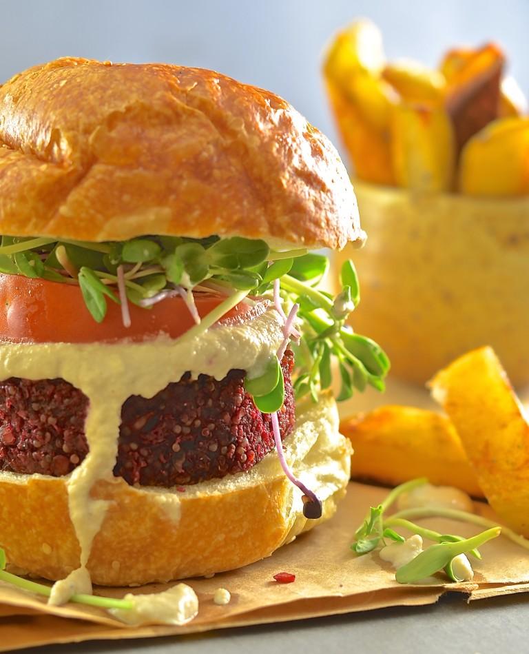 Burgers Beet Lentil