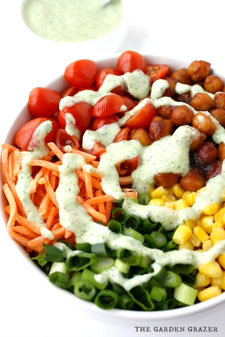 Salad BBQ Chickpea