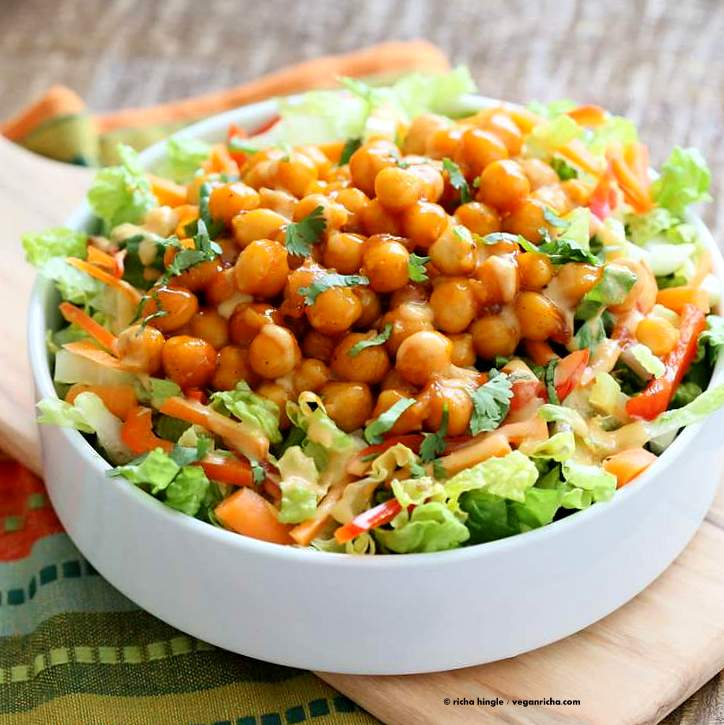 Salad Firecracker Chickpeas