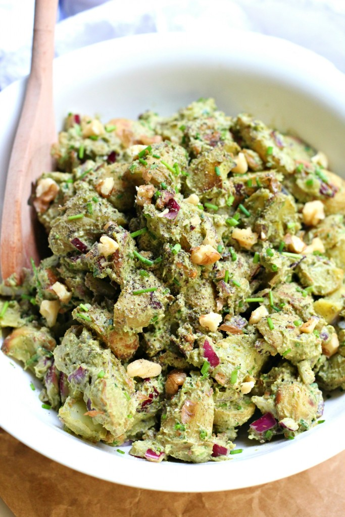 Roasted Potato And Green Bean Salad With Almond-Chive Pesto Recipes ...