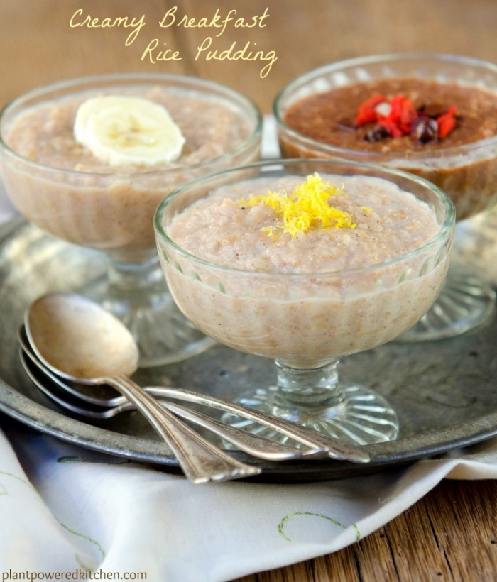 Creamy Breakfast Rice Pudding by Dreena Burton