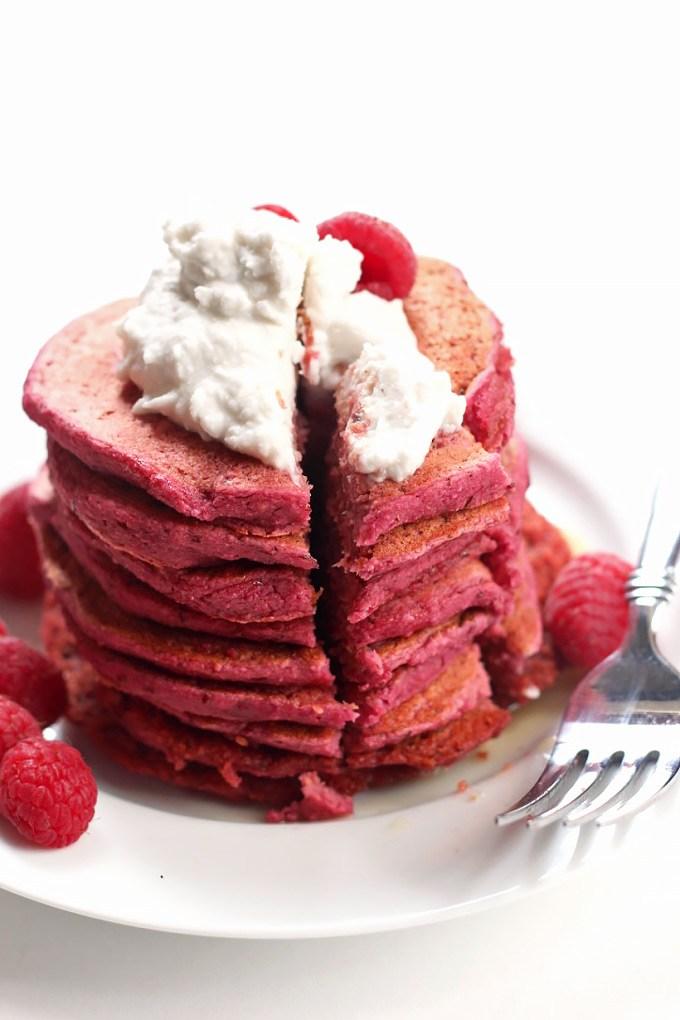 GF Red Velvet Pancakes