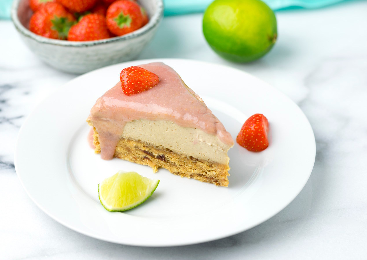 GF Strawberry PB Cheesecake
