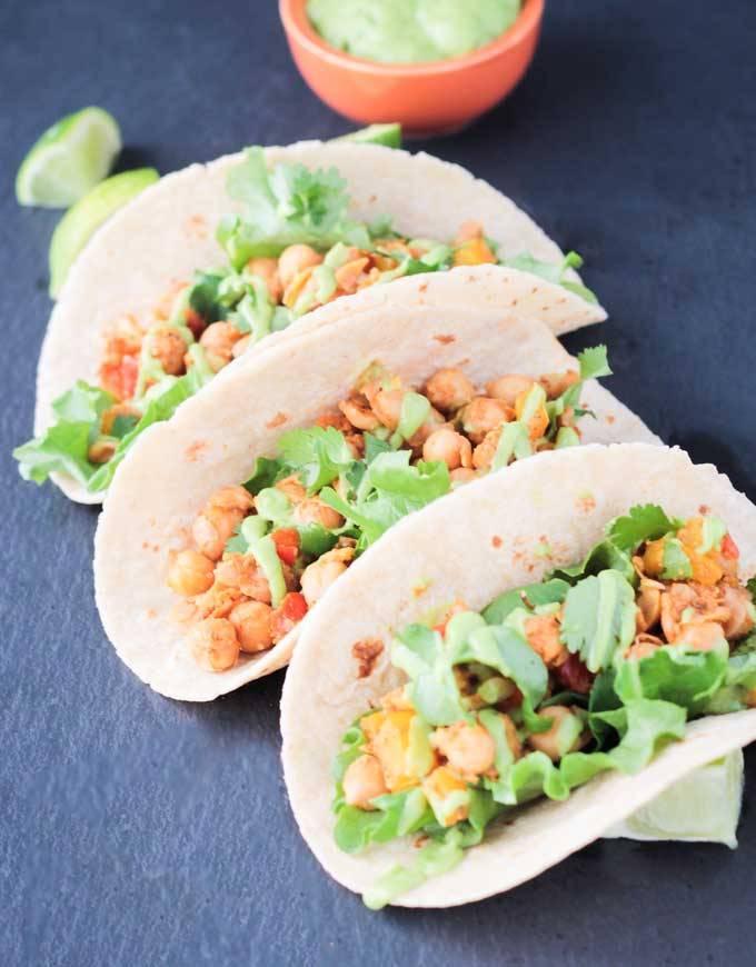 SSS Bell Pepper Chickpea Tacos
