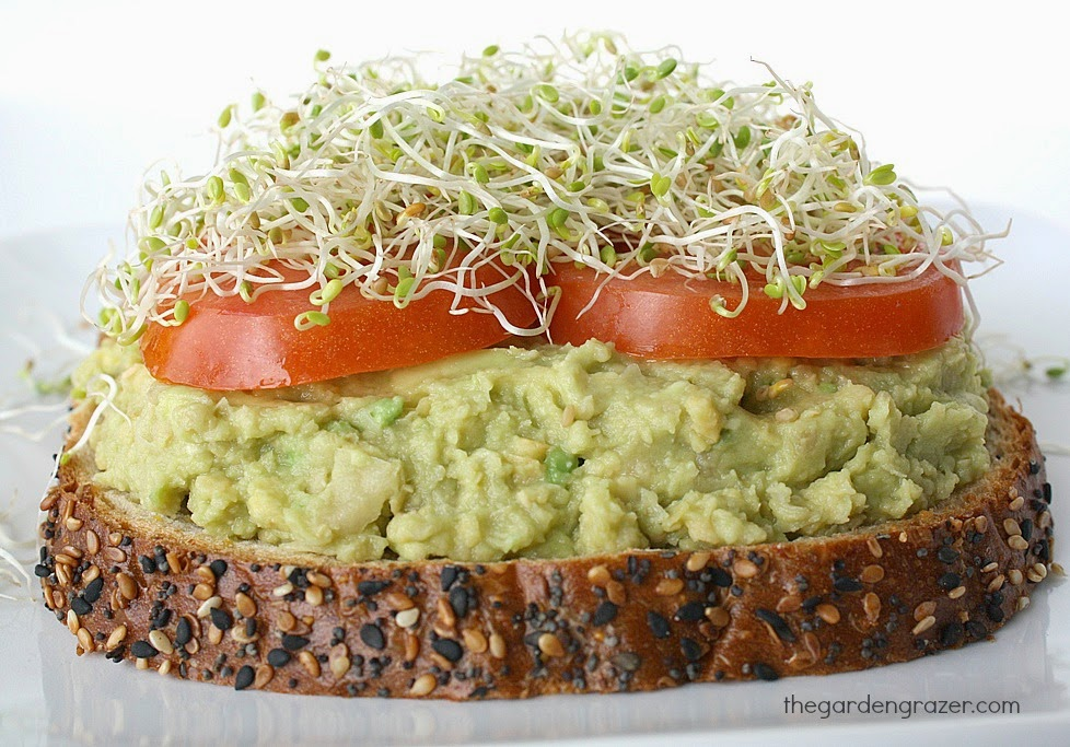 5 ingredient avocado mash