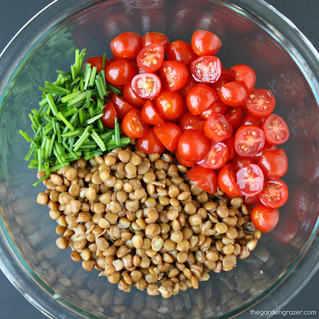 5 ingredient lentil salad