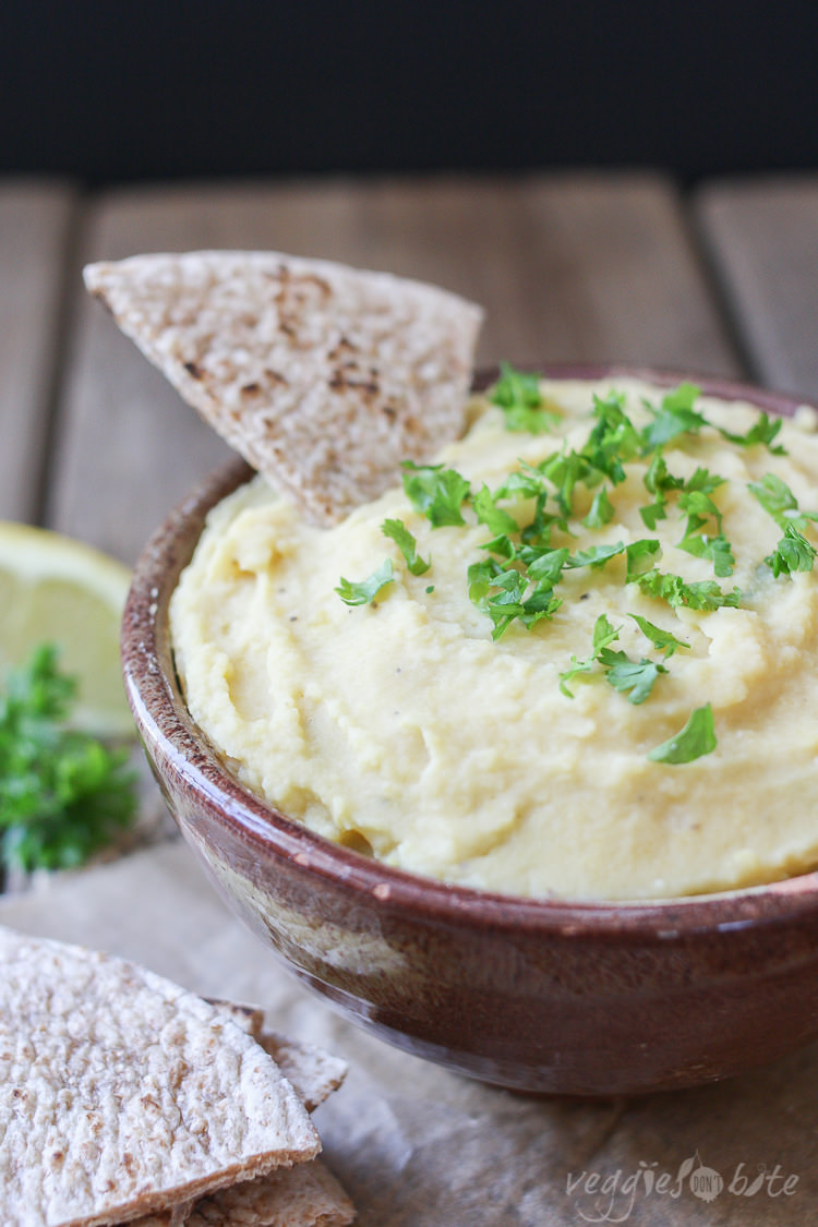 5 ingredient split yellow pea dip