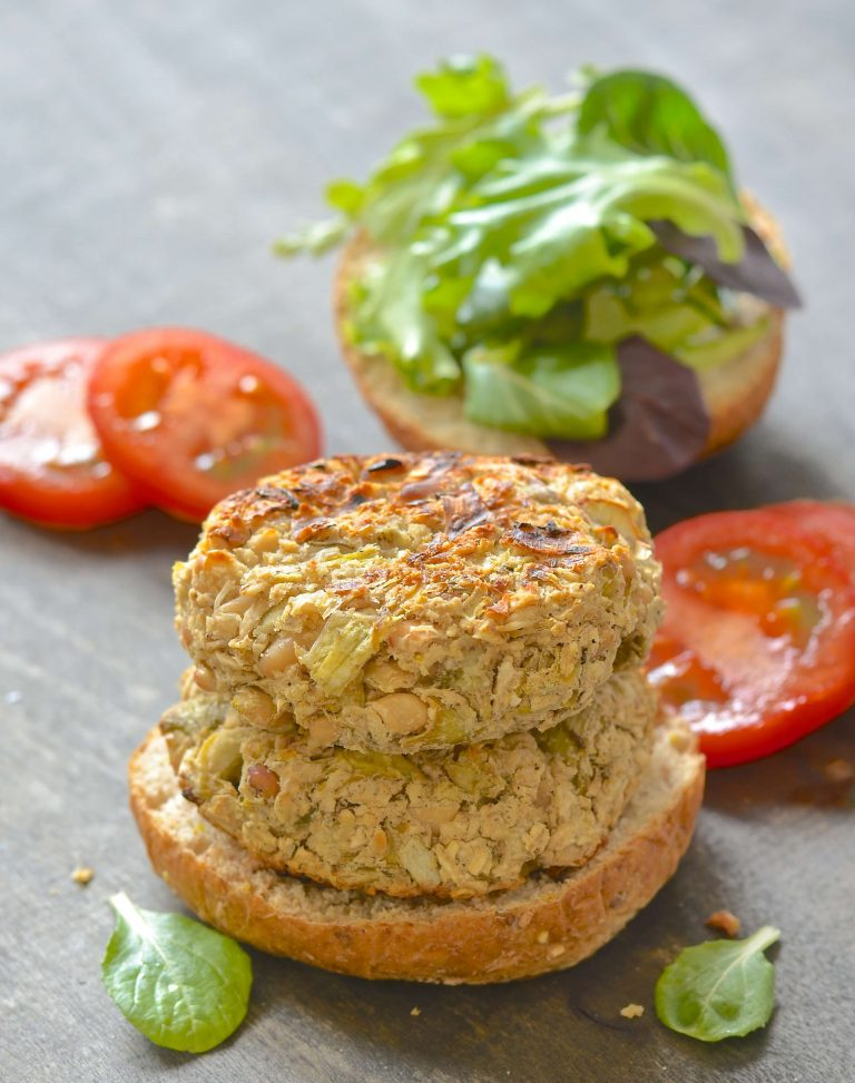 5 ingredient white bean burger