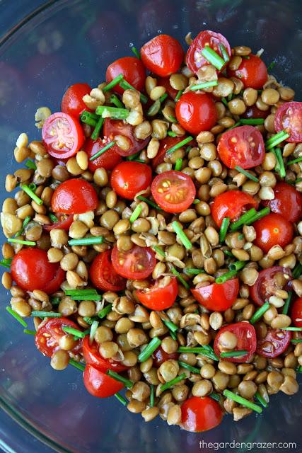 Salad Lentil Tomato