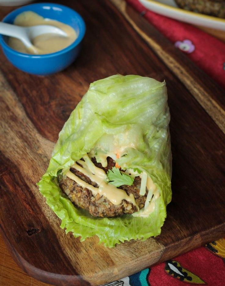 Burgers Asian Lentil