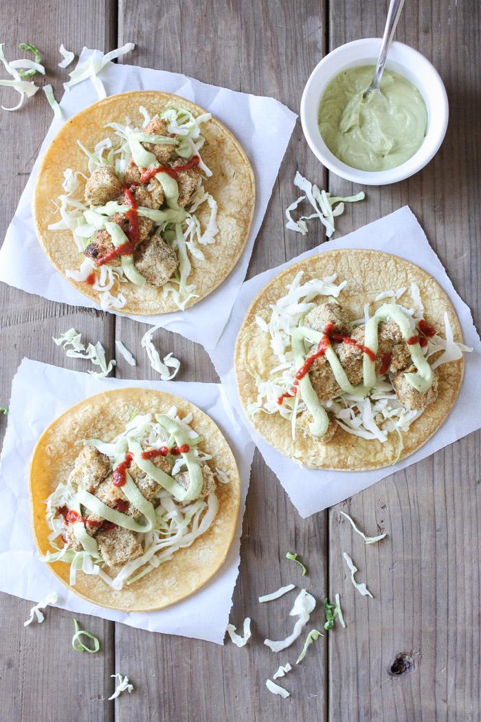 GF Crispy Cauliflower Tacos