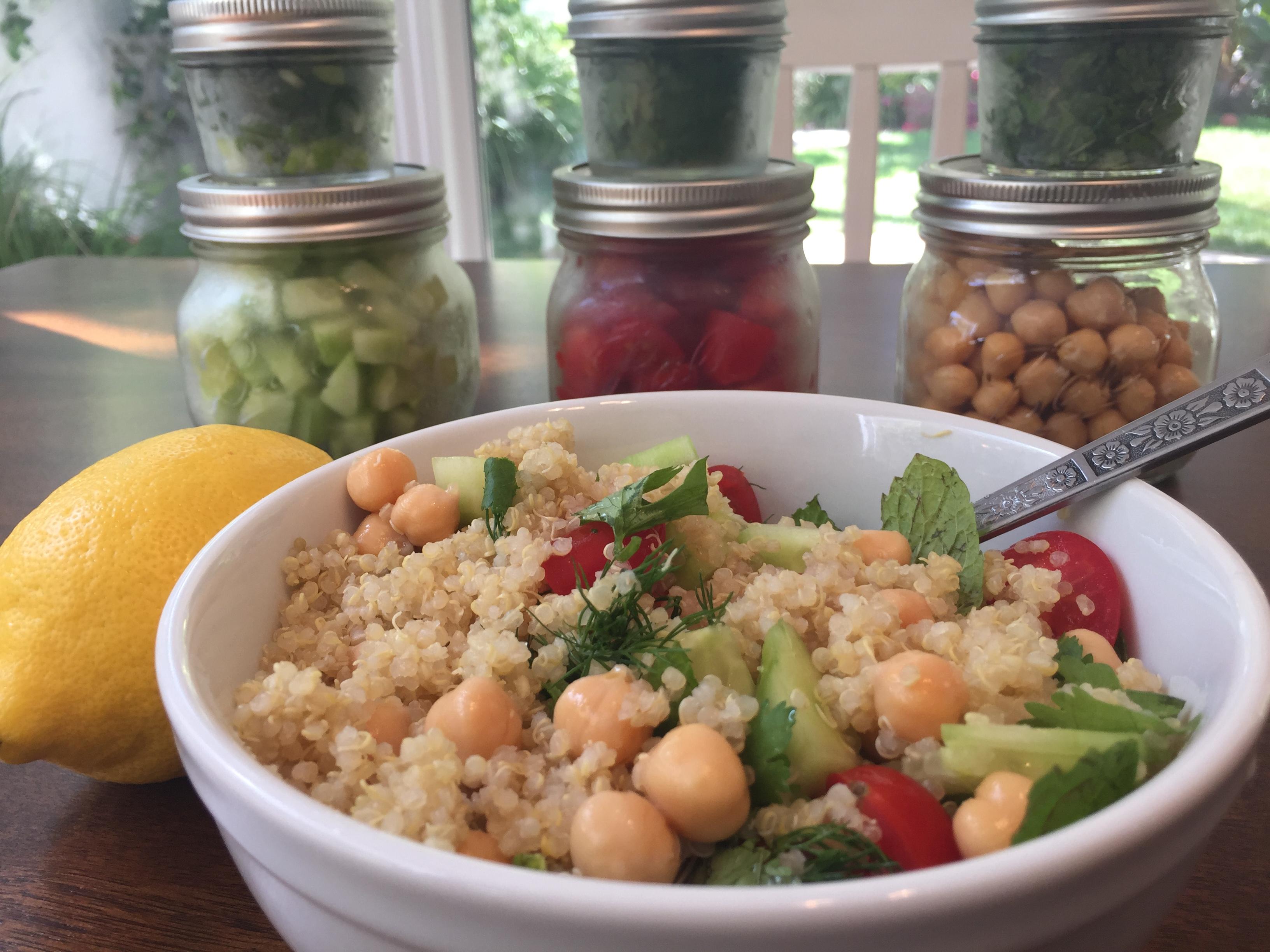 Vegiterranean Quinoa Taboulleh